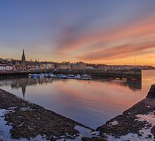 Newhaven Harbour in the Gloaming by Miles Gray