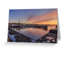 Newhaven Harbour in the Gloaming Greeting Card