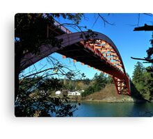 Rainbow Bridge La Conner Canvas Print