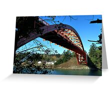 Rainbow Bridge La Conner Greeting Card