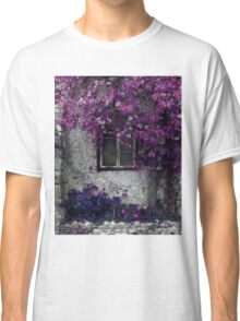 Orchid Vines, Window and Gray Stone Classic T-Shirt