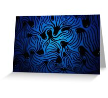 Blue Octo Greeting Card