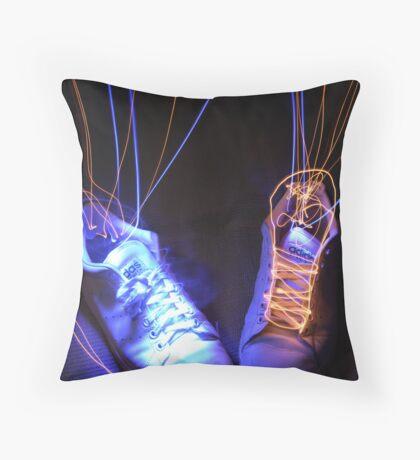 Light footwear Throw Pillow