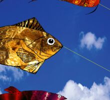 Flying Fish blue sky  Sticker