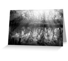 Sunburst over the river Greeting Card