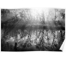 Sunburst over the river Poster