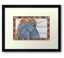 """Mixed Medium """"Stained Glass"""" Horse Framed Print"""