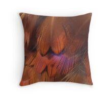 Wild pheasant feathers Throw Pillow
