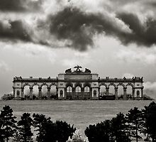 dark clouds above schoenbrunn by 99gnome