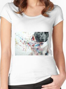 BOXING I Women's Fitted Scoop T-Shirt