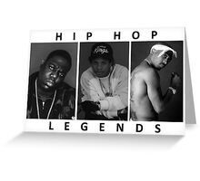 Hip Hop Legends Greeting Card