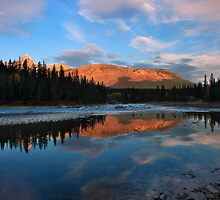 Icefields parkway, A Dawn reflection. Alberta, Canada. by photosecosse /barbara jones