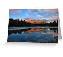 Icefields parkway, A Dawn reflection. Alberta, Canada. Greeting Card