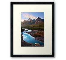 Athabasca River, the Icefields Parkway. Alberta, Canada. Framed Print