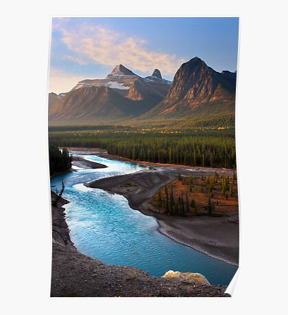 Athabasca River, the Icefields Parkway. Alberta, Canada. Poster