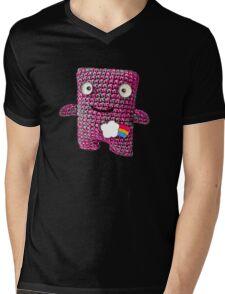 Wooly Robot Mens V-Neck T-Shirt