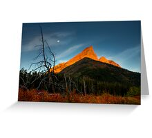 Sunrise, Red Rock Canyon, Waterton National Park, Alberta , Canada. Greeting Card