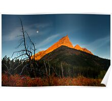Sunrise, Red Rock Canyon, Waterton National Park, Alberta , Canada. Poster
