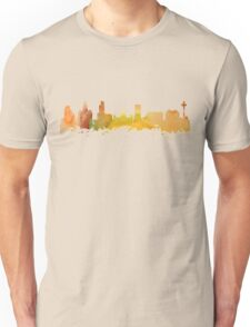 Watercolor  print of the Skyline of Liverpool Unisex T-Shirt