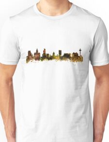 Watercolor Skyline of Liverpool Unisex T-Shirt