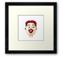 Kim Jong-un McDonalds Art Framed Print