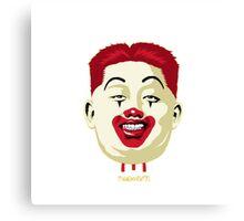 Kim Jong-un McDonalds Art Canvas Print