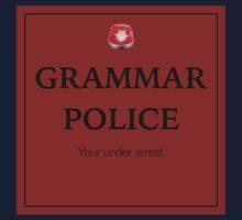 Grammar Police  Kids Tee