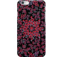 repeating curly red plant style pattern iPhone Case/Skin