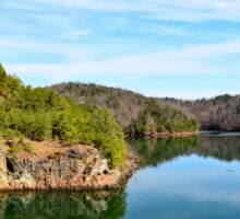 Carter's Lake, Chatsworth, Georgia, USA Sticker