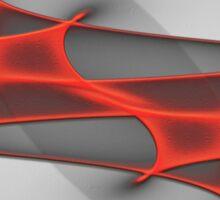 Fractal-007-red Sticker