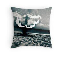 Beach Demon Throw Pillow
