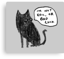 Black Cats Aren't Evil Canvas Print