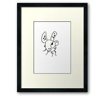 White Flea Framed Print