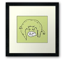 Crocodiles Aren't Evil Framed Print