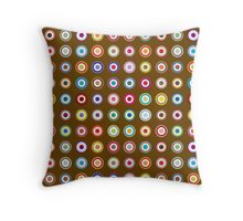 Mods dots large and brown Throw Pillow