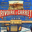 Rivoire & Carret French Pasta Vintage Poster by 45thAveArtCo