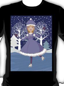 Winter skating girl T-Shirt