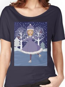 Winter skating girl Women's Relaxed Fit T-Shirt