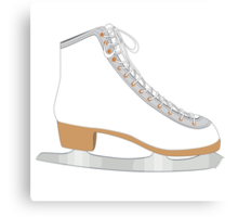 White ice skate Canvas Print