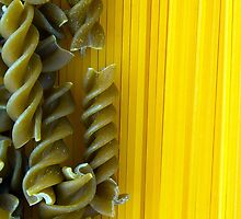 Raw Pasta Spaghetti and Fusilli by MarkUK97