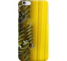 Raw Pasta Spaghetti and Fusilli iPhone Case/Skin