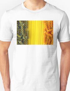Raw Pasta Spaghetti and Fusilli T-Shirt