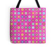 Mods dots large and pink Tote Bag