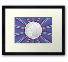 Volleyball Ball Background 4 Framed Print