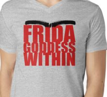 Frida Goddess Mens V-Neck T-Shirt