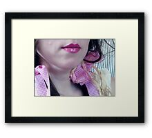 ~ pink ribbon ~ Framed Print