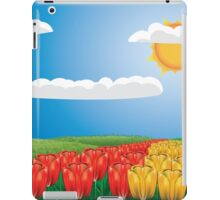 Tulip field 2 iPad Case/Skin