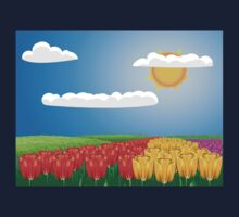 Tulip field 2 Kids Tee