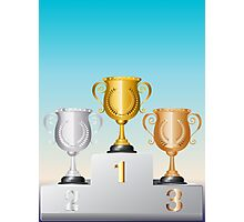 Trophy Cup on Podium 2 Photographic Print