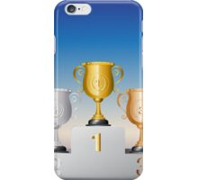 Trophy Cup on Podium iPhone Case/Skin